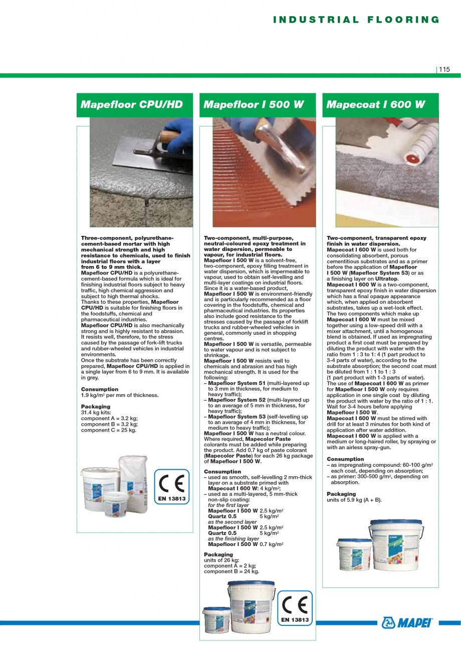 Pagina 117 - Catalog mortare, materiale speciale MAPEI Catalog, brosura Engleza ailable in various...