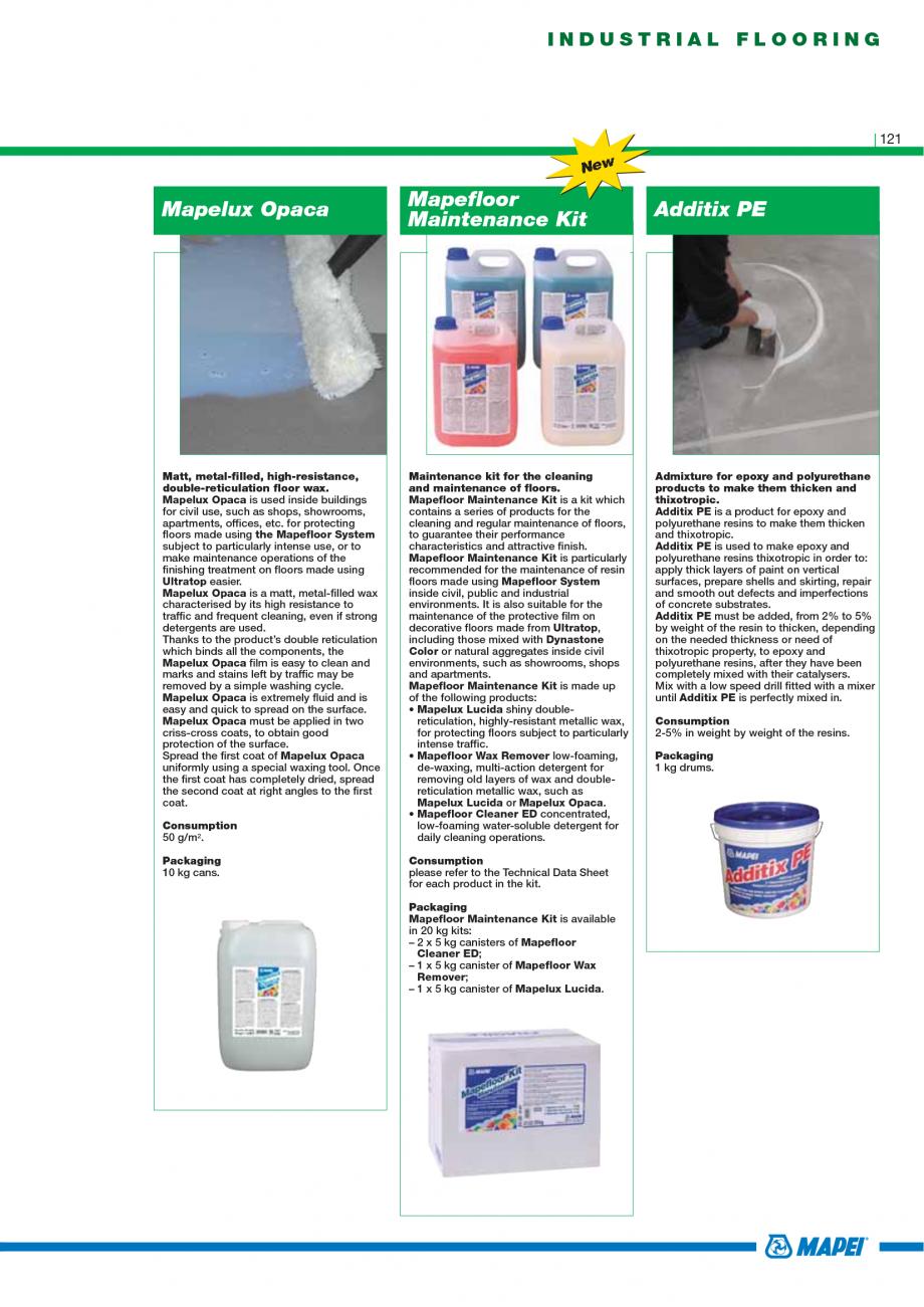 Pagina 123 - Catalog mortare, materiale speciale MAPEI Catalog, brosura Engleza  1 is a...