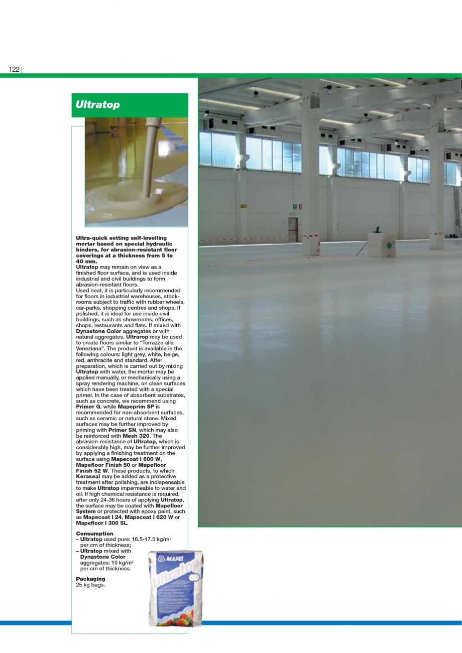 Pagina 124 - Catalog mortare, materiale speciale MAPEI Catalog, brosura Engleza  surfaces. MapeWrap ...