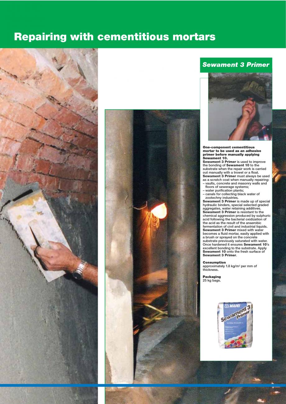 Pagina 126 - Catalog mortare, materiale speciale MAPEI Catalog, brosura Engleza ven. Mixing ratio: 4...