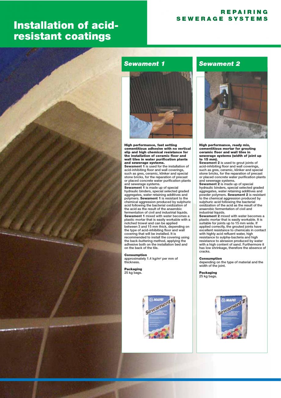 Pagina 128 - Catalog mortare, materiale speciale MAPEI Catalog, brosura Engleza concrete structures ...
