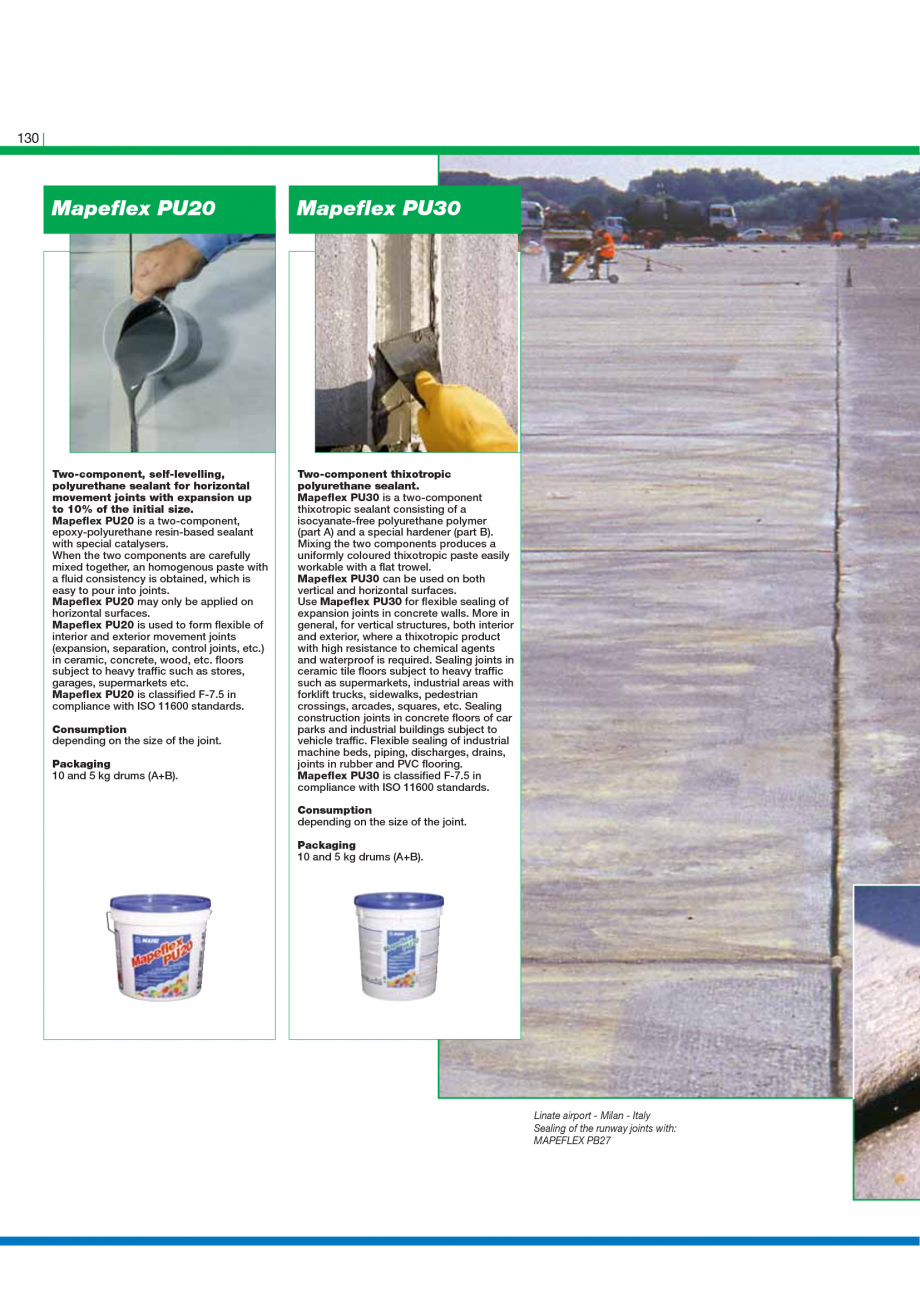 Pagina 132 - Catalog mortare, materiale speciale MAPEI Catalog, brosura Engleza pplicable thickness ...