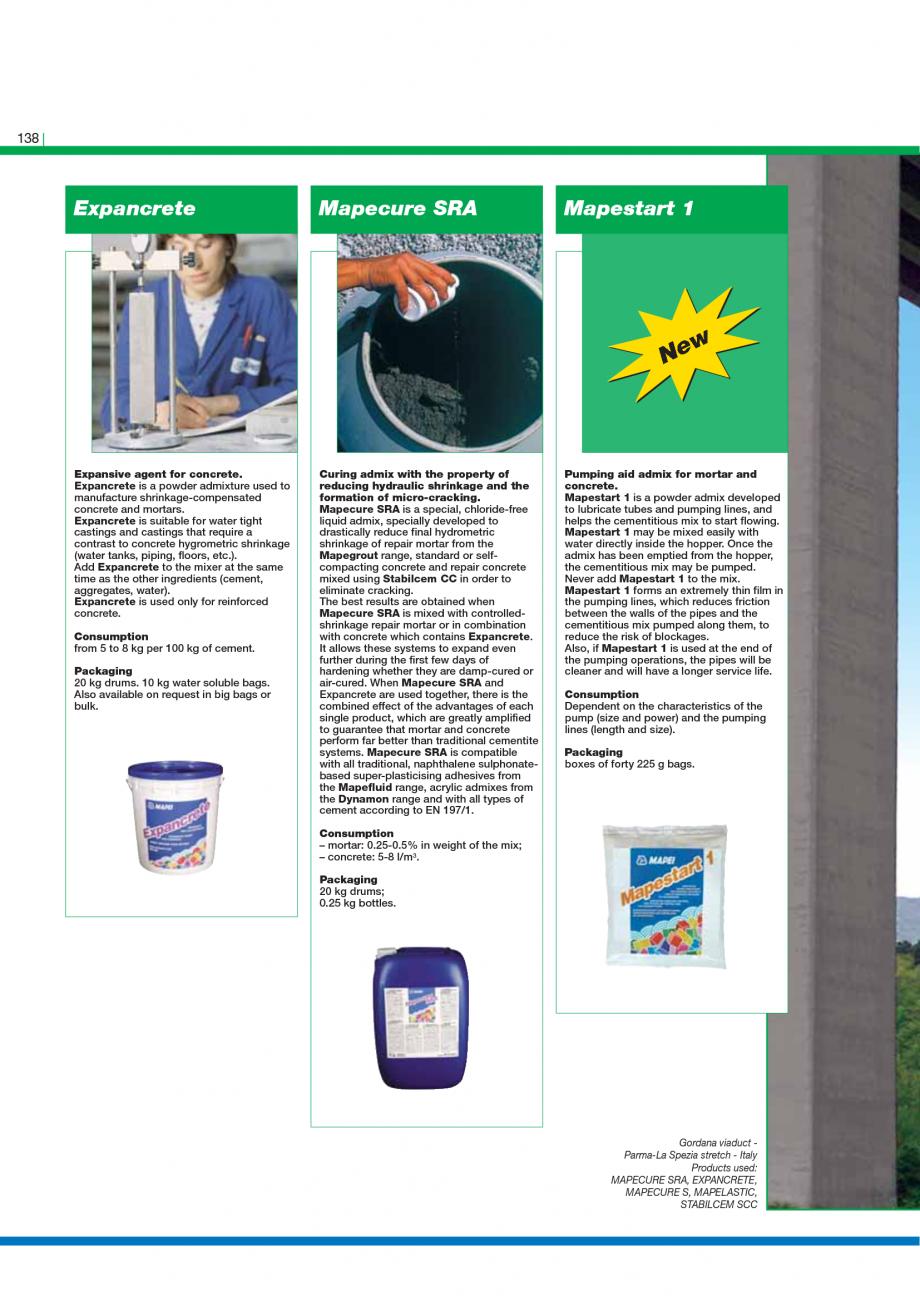 Pagina 140 - Catalog mortare, materiale speciale MAPEI Catalog, brosura Engleza  the formation of...