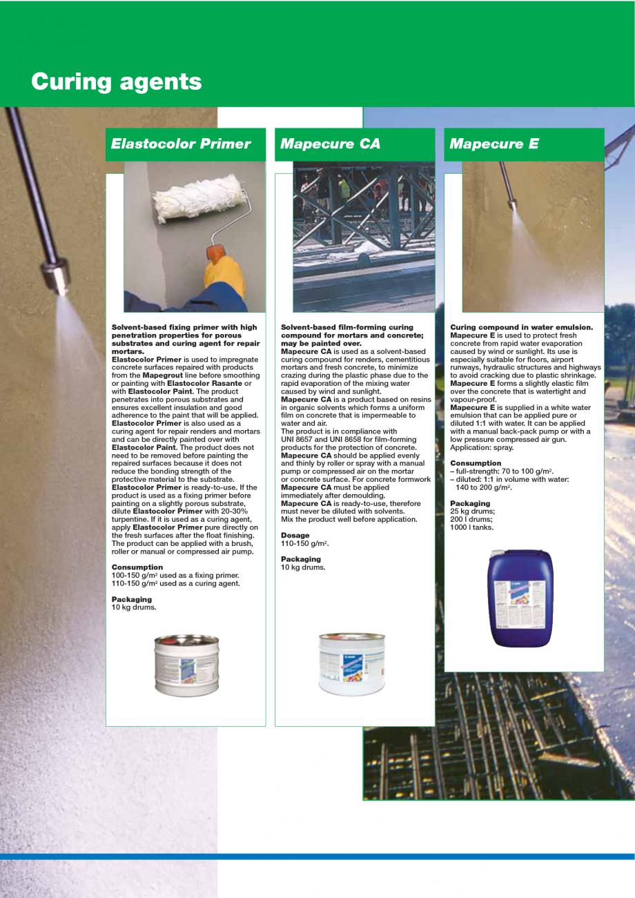 Pagina 142 - Catalog mortare, materiale speciale MAPEI Catalog, brosura Engleza s -20°C. Once it...