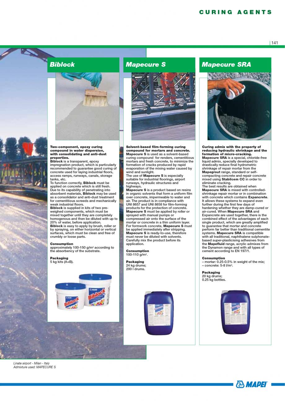 Pagina 143 - Catalog mortare, materiale speciale MAPEI Catalog, brosura Engleza ter until a...