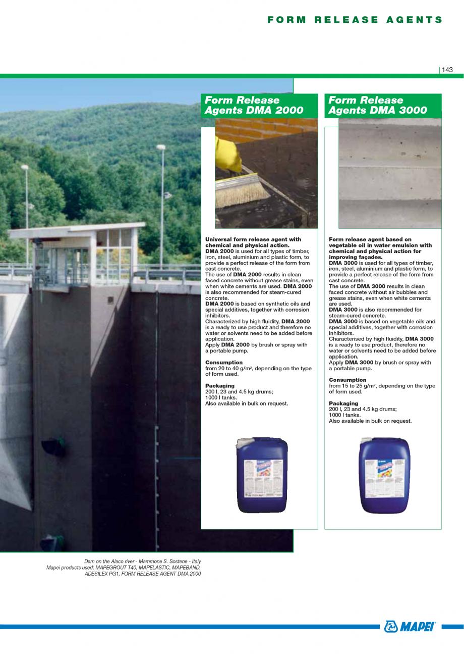 Pagina 145 - Catalog mortare, materiale speciale MAPEI Catalog, brosura Engleza  tenacity, suitable ...