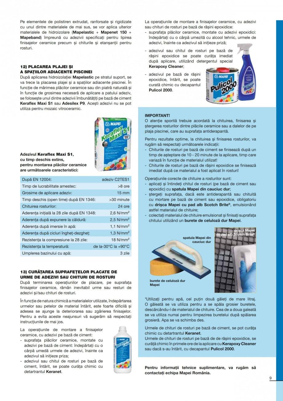 Pagina 9 - Ghid constructia piscinelor din beton armat MAPEI Catalog, brosura Romana �n contact cu...
