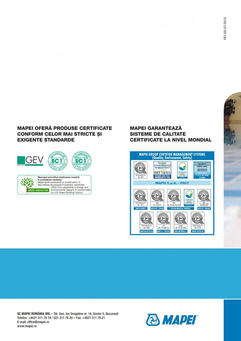 Pagina 28 - Ghid constructia piscinelor din beton armat MAPEI Catalog, brosura Romana zi:  GEV...