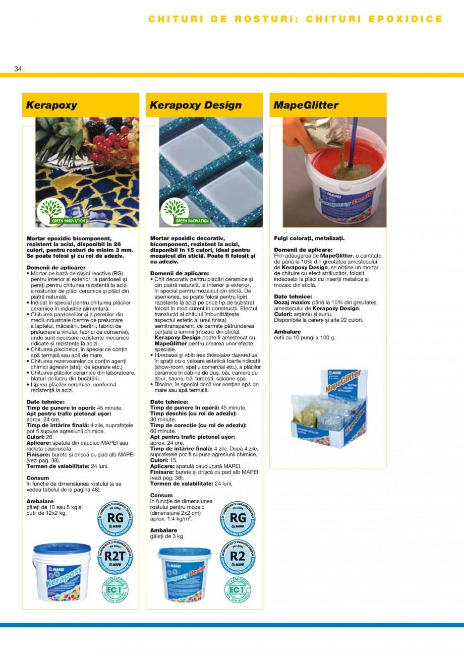 Pagina 36 - Produse pentru montarea placilor ceramice si a placilor din piatra naturala MAPEI...