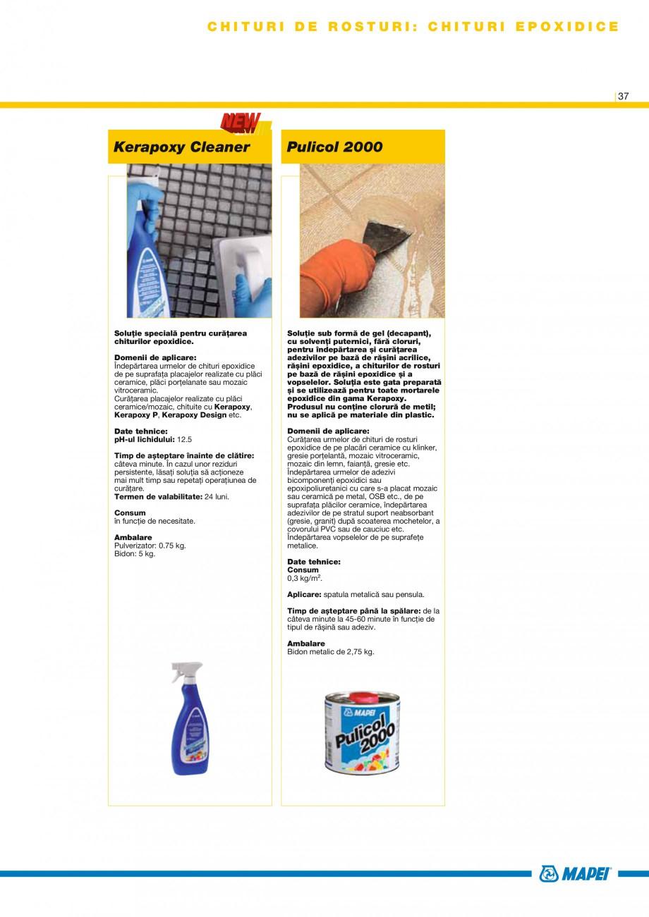 Pagina 39 - Produse pentru montarea placilor ceramice si a placilor din piatra naturala MAPEI...