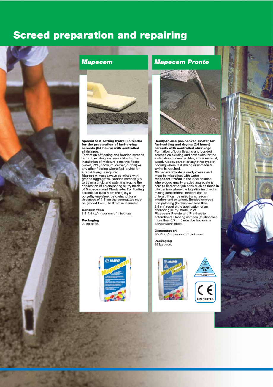 Pagina 12 - Catalog mortare, materiale speciale MAPEI Mapegrout Easy Flow GF, Mapegrout SV,...