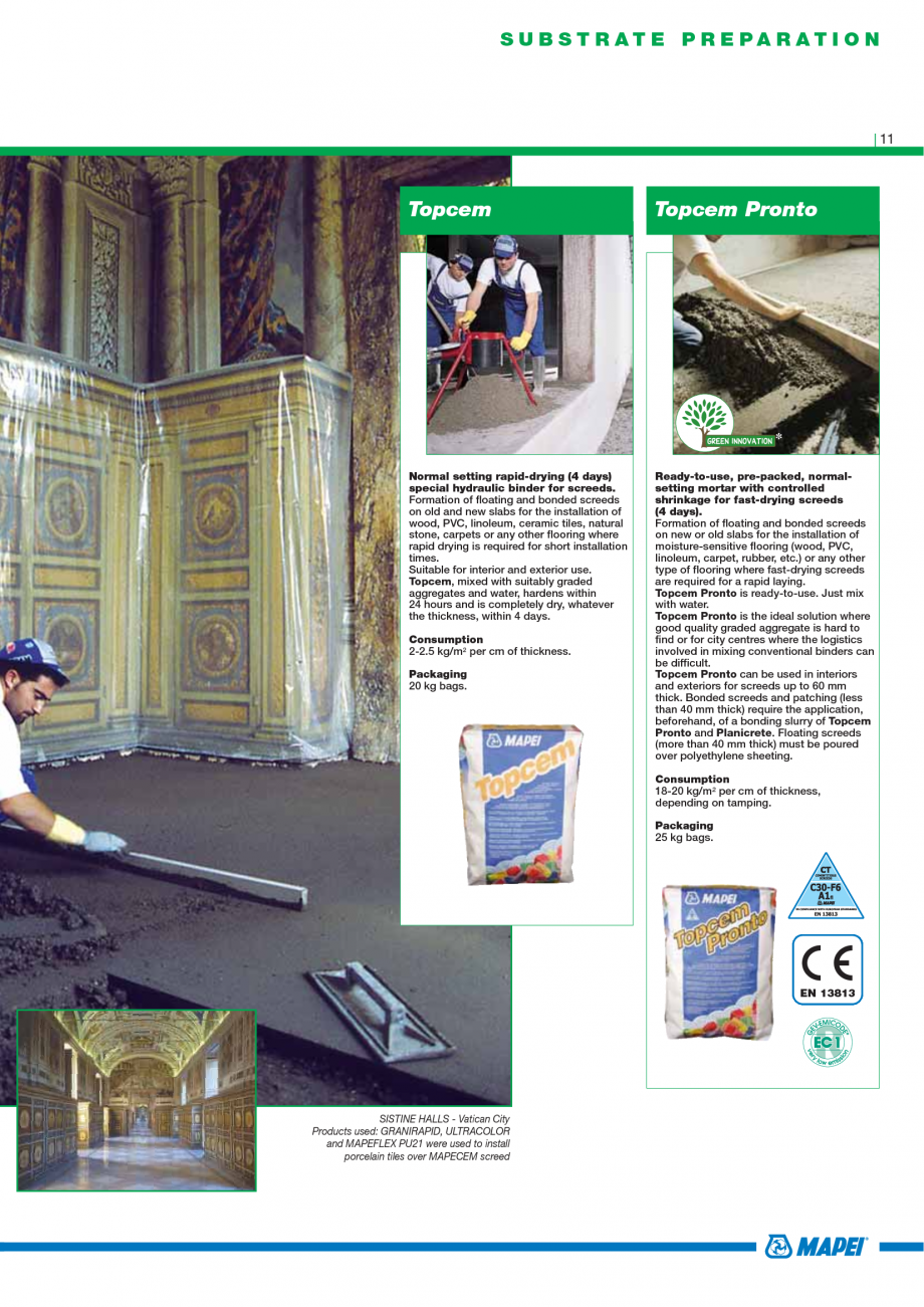 Pagina 13 - Catalog mortare, materiale speciale MAPEI Mapegrout Easy Flow GF, Mapegrout SV,...