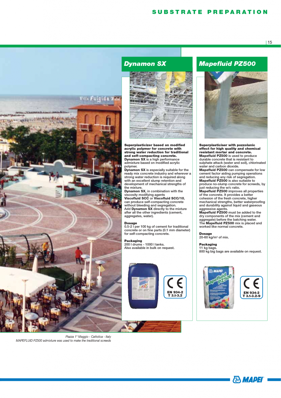 Pagina 17 - Catalog mortare, materiale speciale MAPEI Mapegrout Easy Flow GF, Mapegrout SV,...