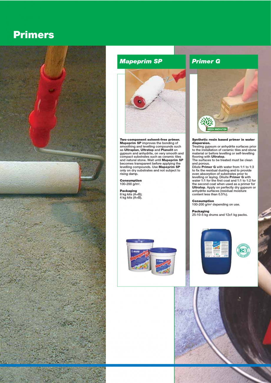 Pagina 18 - Catalog mortare, materiale speciale MAPEI Mapegrout Easy Flow GF, Mapegrout SV,...