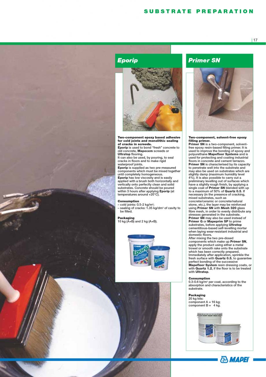 Pagina 19 - Catalog mortare, materiale speciale MAPEI Mapegrout Easy Flow GF, Mapegrout SV,...