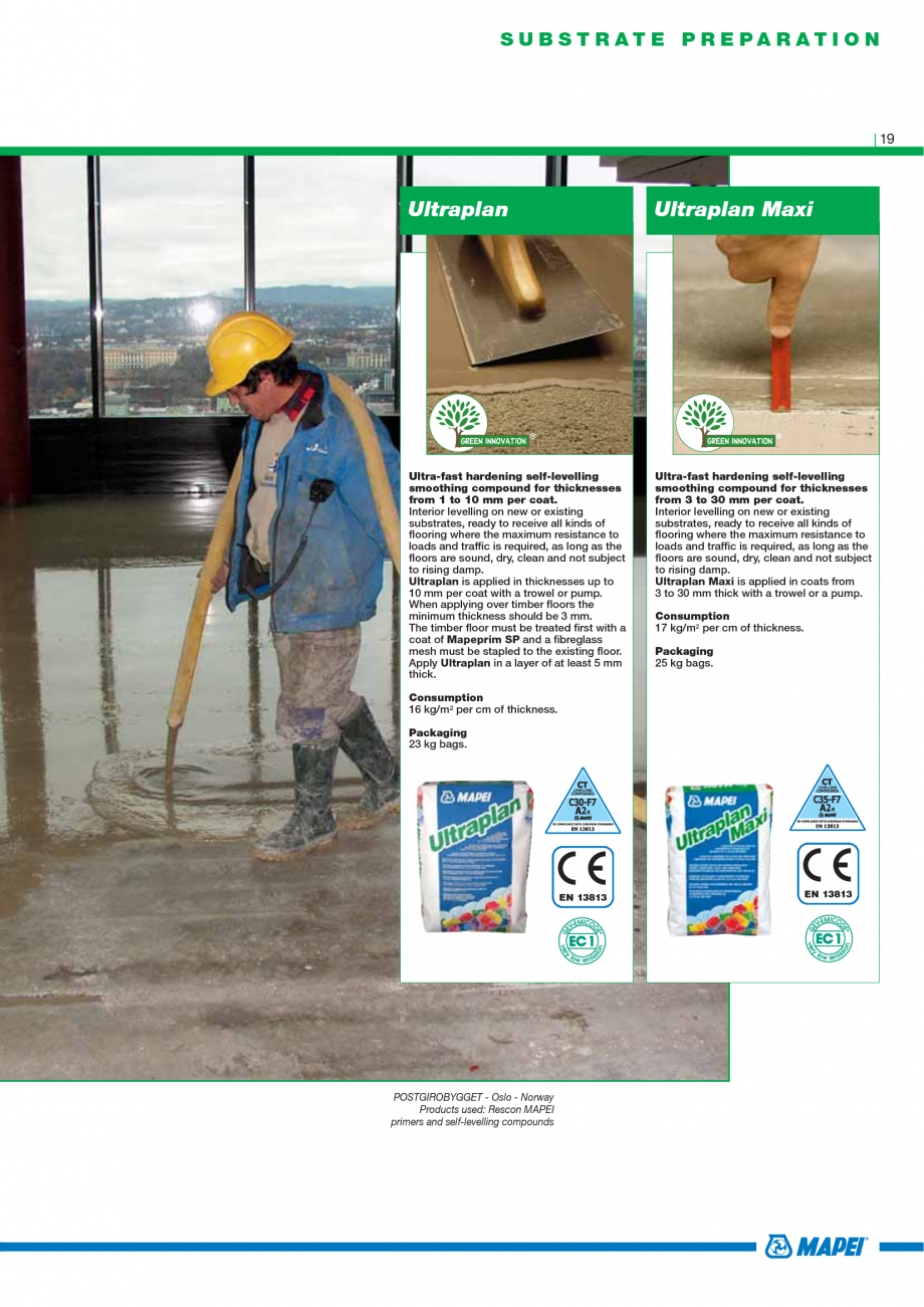 Pagina 21 - Catalog mortare, materiale speciale MAPEI Mapegrout Easy Flow GF, Mapegrout SV,...