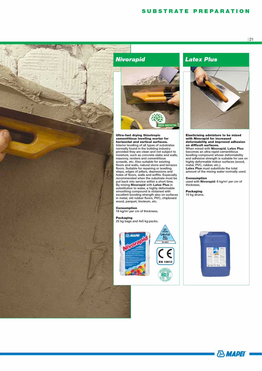 Pagina 23 - Catalog mortare, materiale speciale MAPEI Mapegrout Easy Flow GF, Mapegrout SV,...