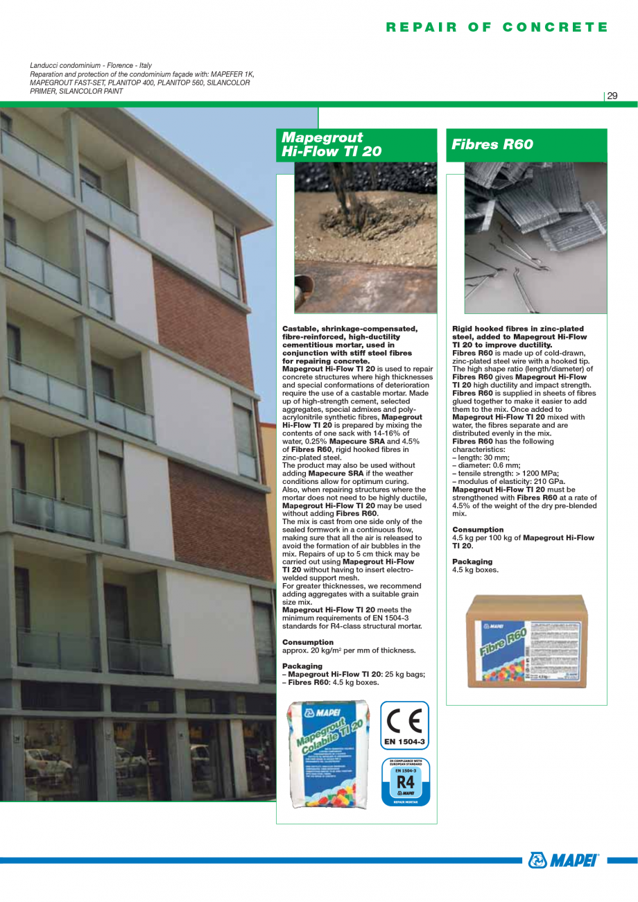 Pagina 31 - Catalog mortare, materiale speciale MAPEI Mapegrout Easy Flow GF, Mapegrout SV,...
