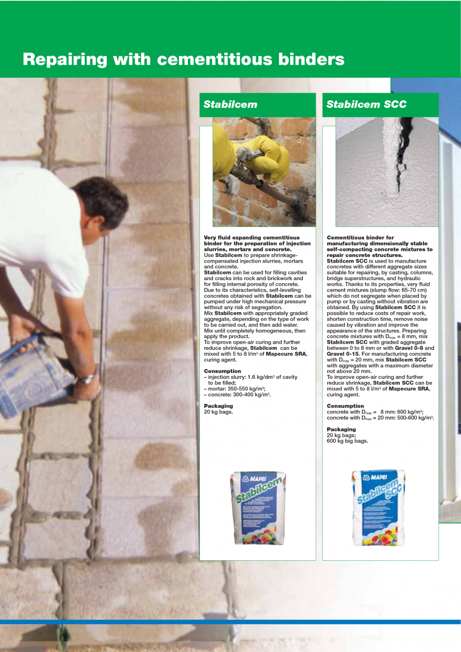 Pagina 34 - Catalog mortare, materiale speciale MAPEI Mapegrout Easy Flow GF, Mapegrout SV,...
