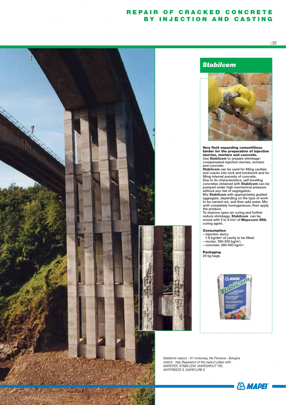 Pagina 39 - Catalog mortare, materiale speciale MAPEI Mapegrout Easy Flow GF, Mapegrout SV,...