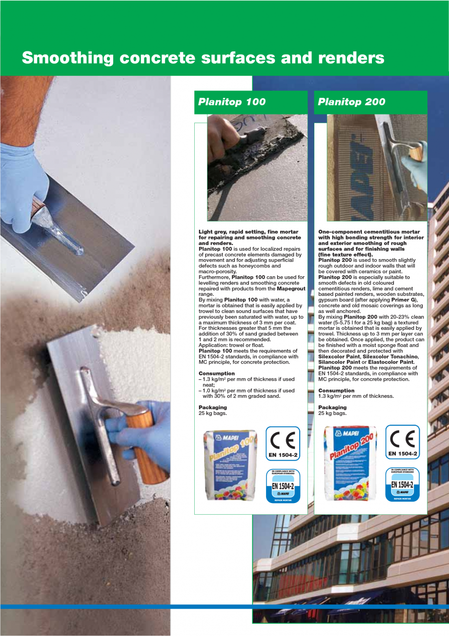 Pagina 40 - Catalog mortare, materiale speciale MAPEI Mapegrout Easy Flow GF, Mapegrout SV,...