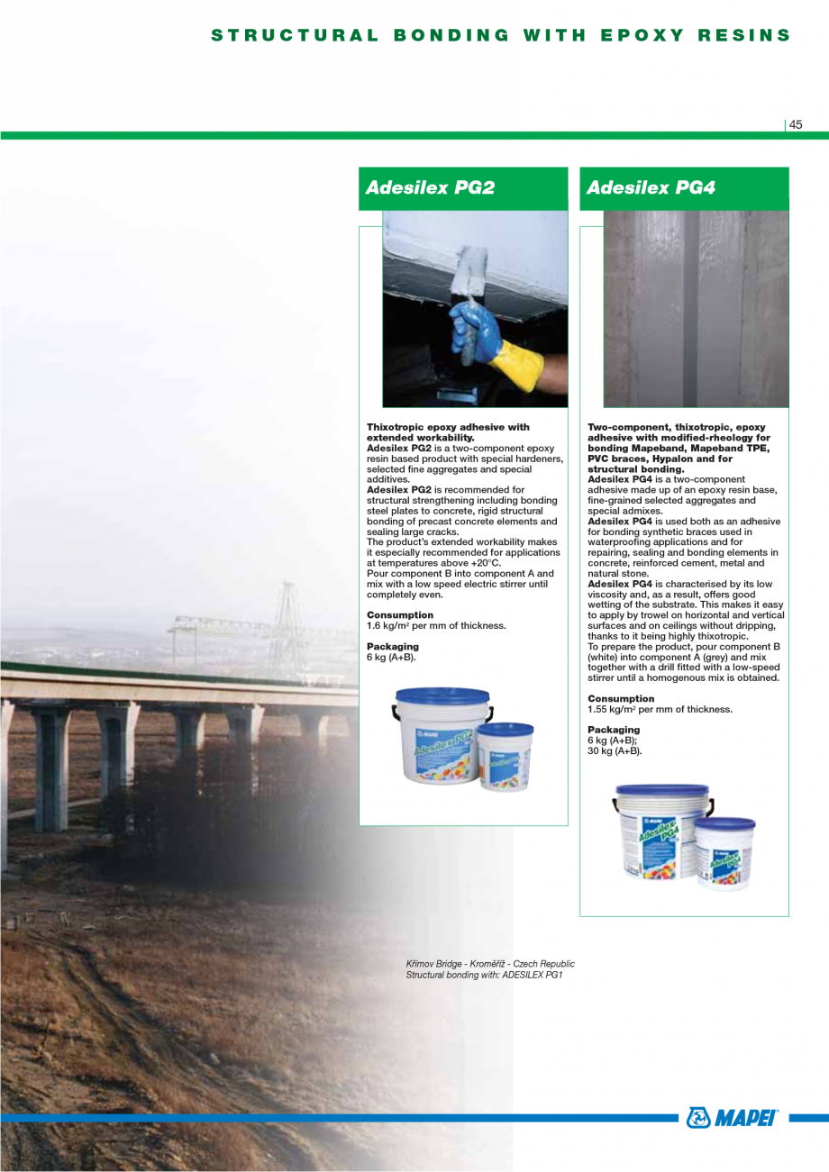 Pagina 47 - Catalog mortare, materiale speciale MAPEI Mapegrout Easy Flow GF, Mapegrout SV,...