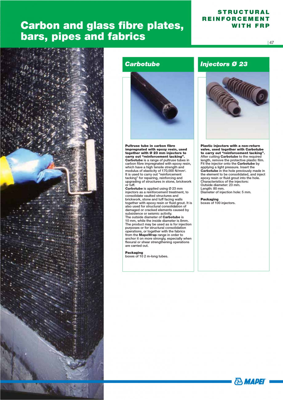 Pagina 49 - Catalog mortare, materiale speciale MAPEI Mapegrout Easy Flow GF, Mapegrout SV,...