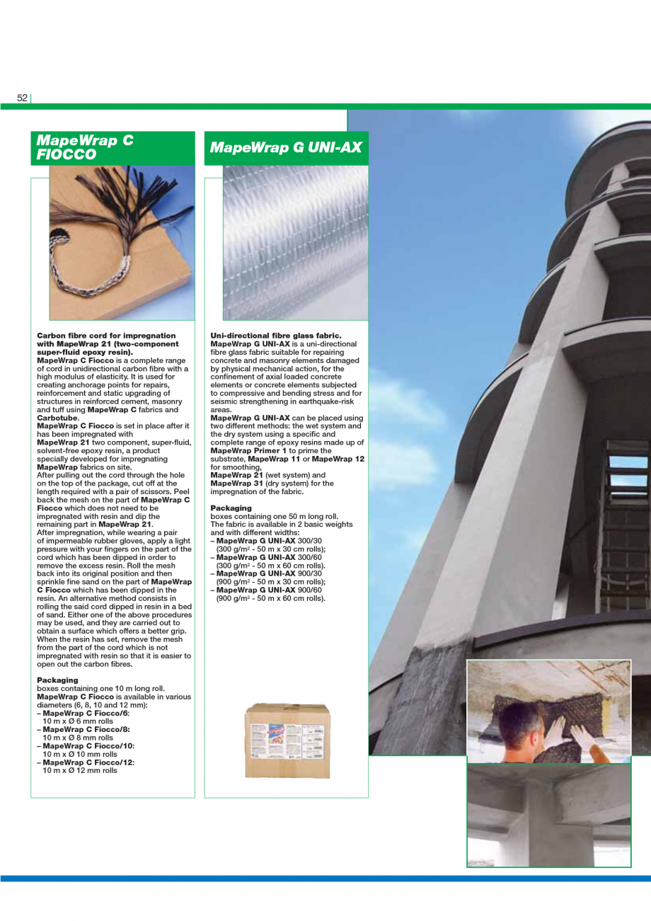 Pagina 54 - Catalog mortare, materiale speciale MAPEI Mapegrout Easy Flow GF, Mapegrout SV,...