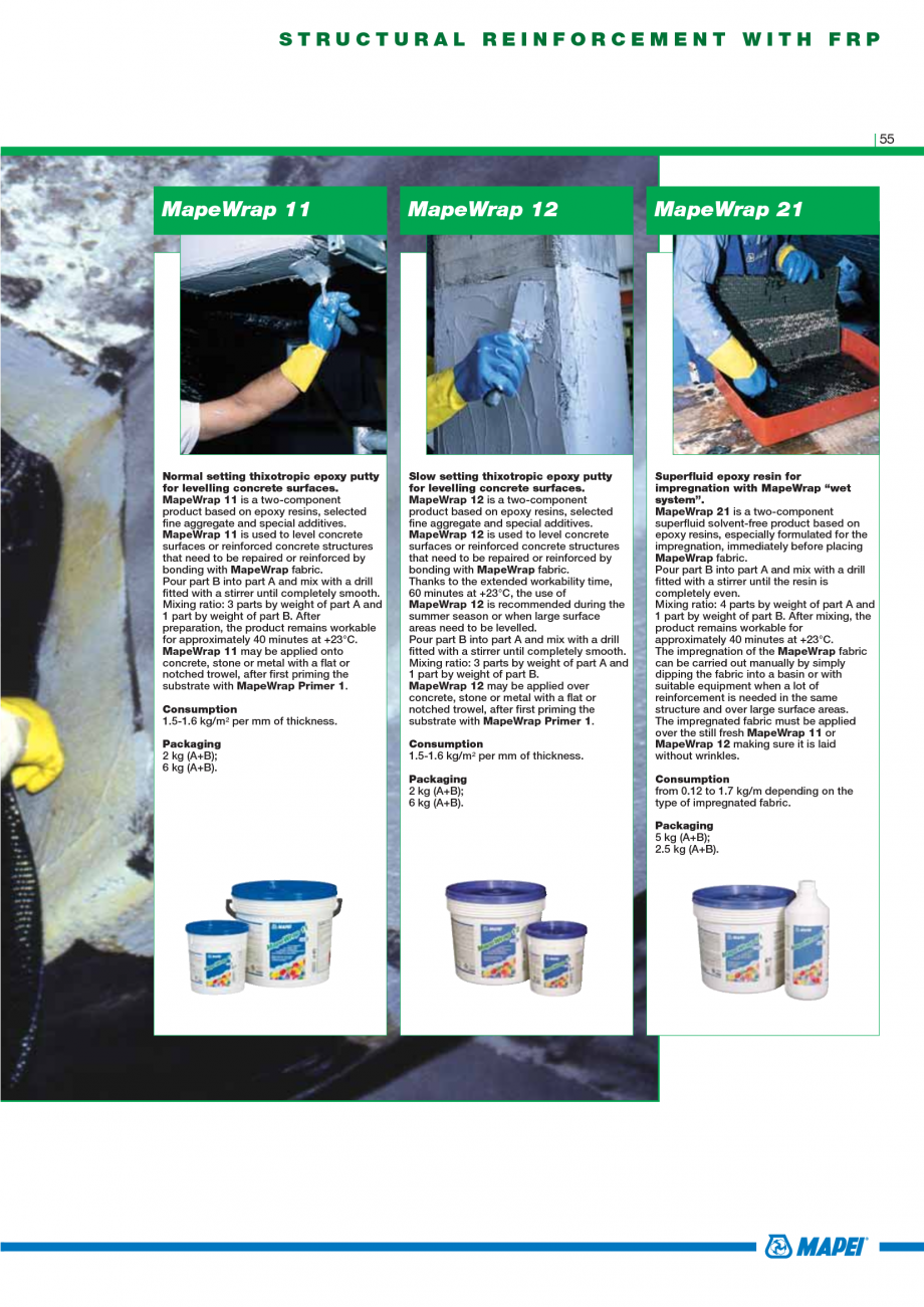 Pagina 57 - Catalog mortare, materiale speciale MAPEI Mapegrout Easy Flow GF, Mapegrout SV,...