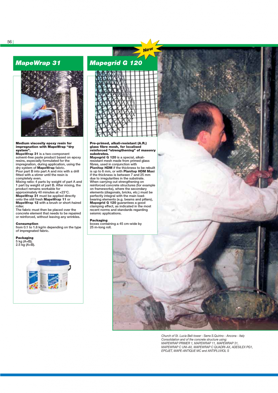 Pagina 58 - Catalog mortare, materiale speciale MAPEI Mapegrout Easy Flow GF, Mapegrout SV,...