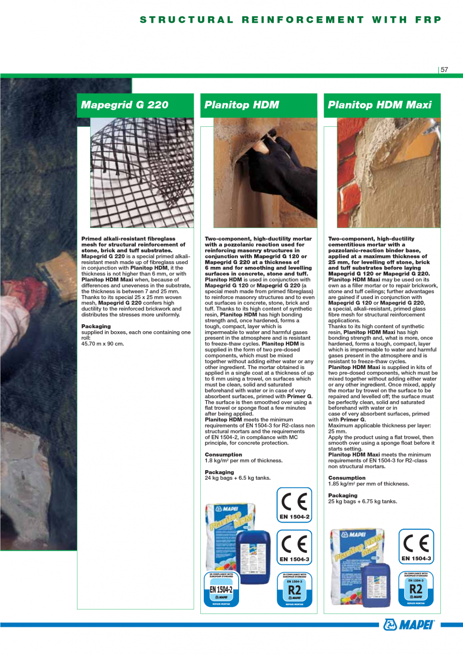 Pagina 59 - Catalog mortare, materiale speciale MAPEI Mapegrout Easy Flow GF, Mapegrout SV,...