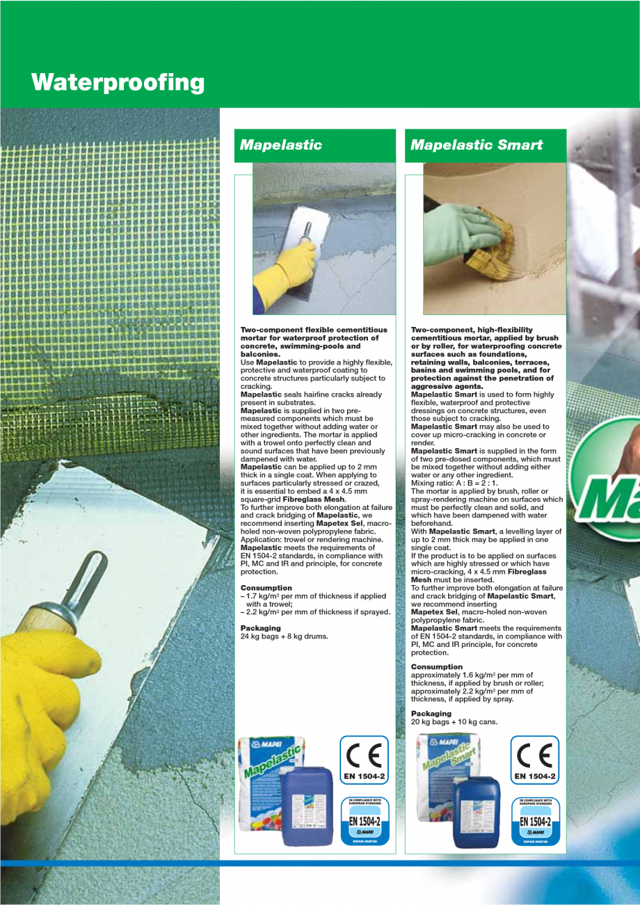 Pagina 60 - Catalog mortare, materiale speciale MAPEI Mapegrout Easy Flow GF, Mapegrout SV,...