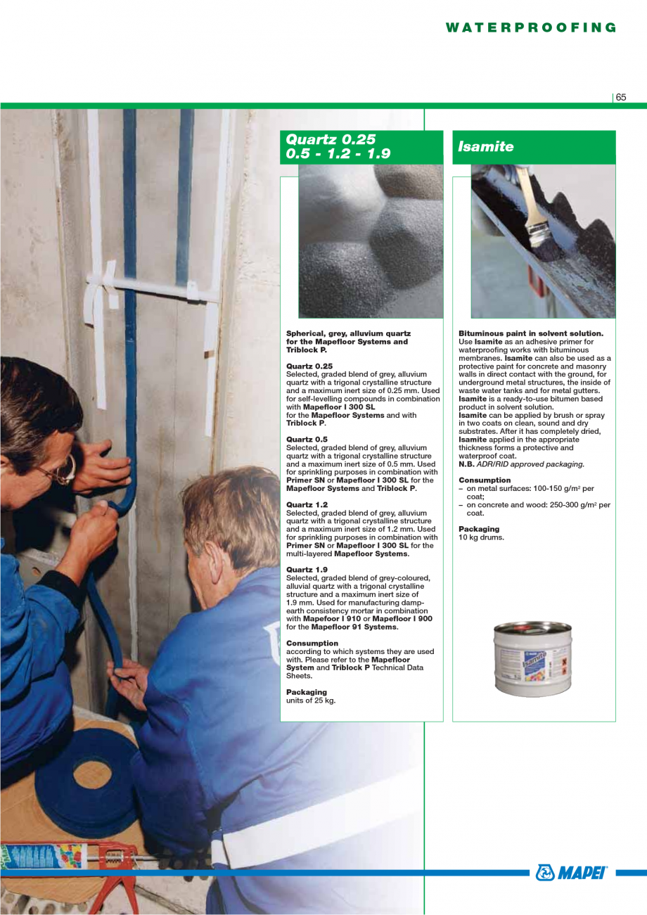 Pagina 67 - Catalog mortare, materiale speciale MAPEI Mapegrout Easy Flow GF, Mapegrout SV,...