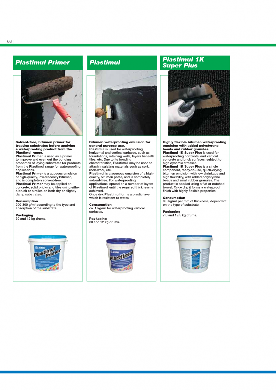 Pagina 68 - Catalog mortare, materiale speciale MAPEI Mapegrout Easy Flow GF, Mapegrout SV,...