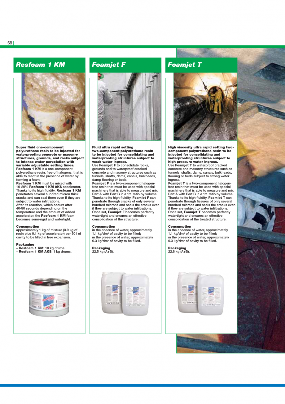 Pagina 70 - Catalog mortare, materiale speciale MAPEI Mapegrout Easy Flow GF, Mapegrout SV,...