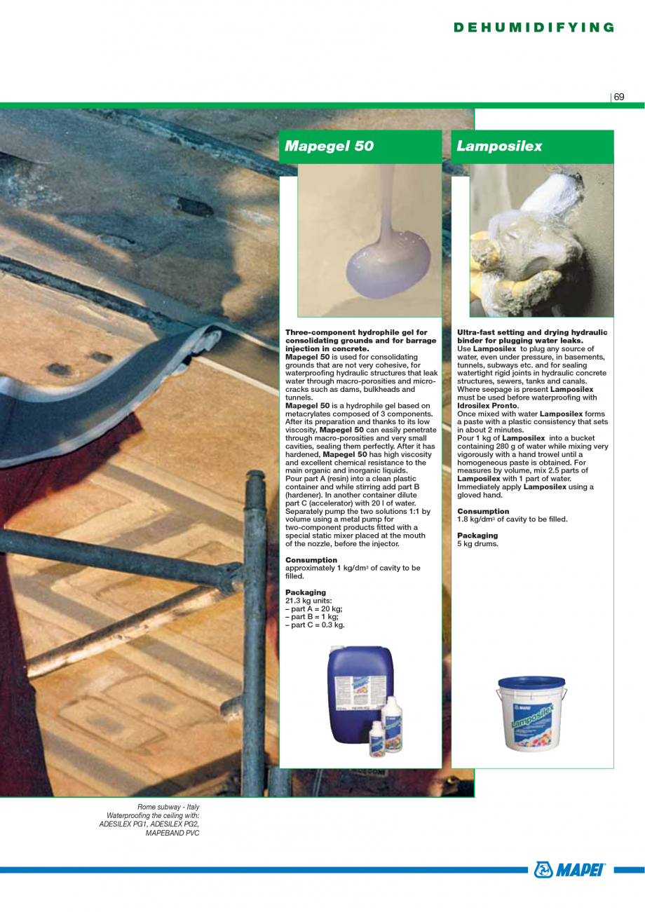 Pagina 71 - Catalog mortare, materiale speciale MAPEI Mapegrout Easy Flow GF, Mapegrout SV,...