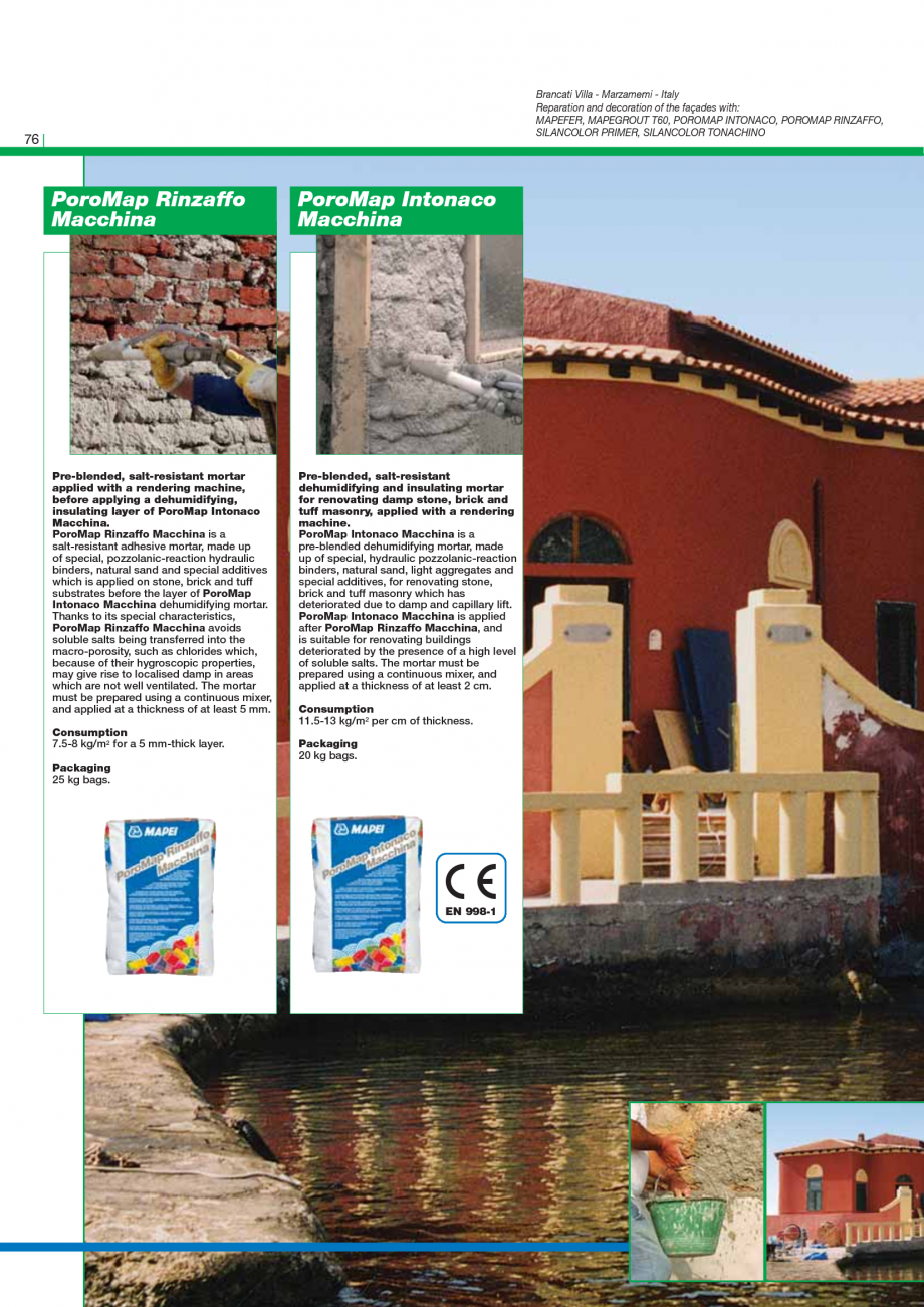 Pagina 78 - Catalog mortare, materiale speciale MAPEI Mapegrout Easy Flow GF, Mapegrout SV,...