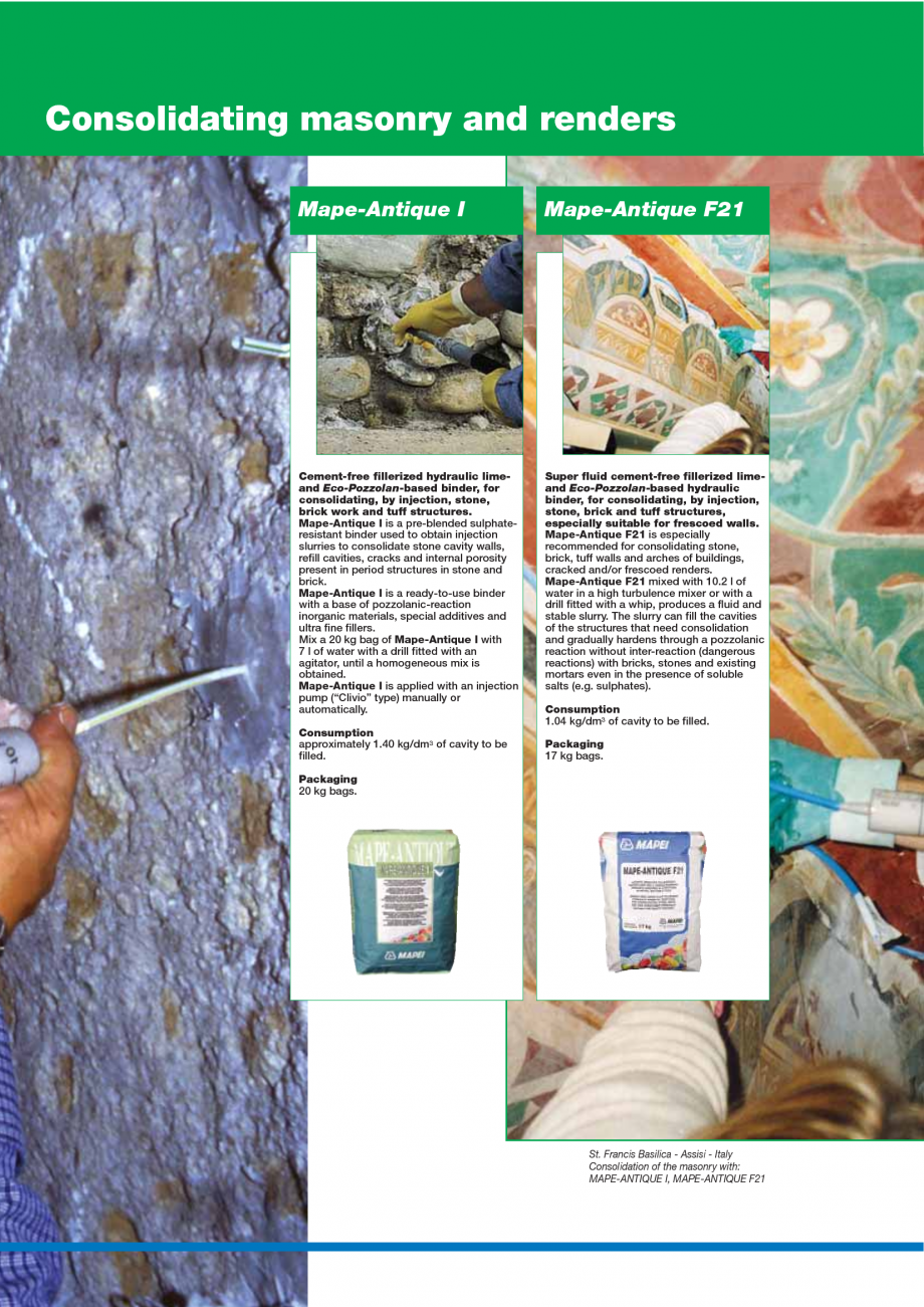 Pagina 82 - Catalog mortare, materiale speciale MAPEI Mapegrout Easy Flow GF, Mapegrout SV,...