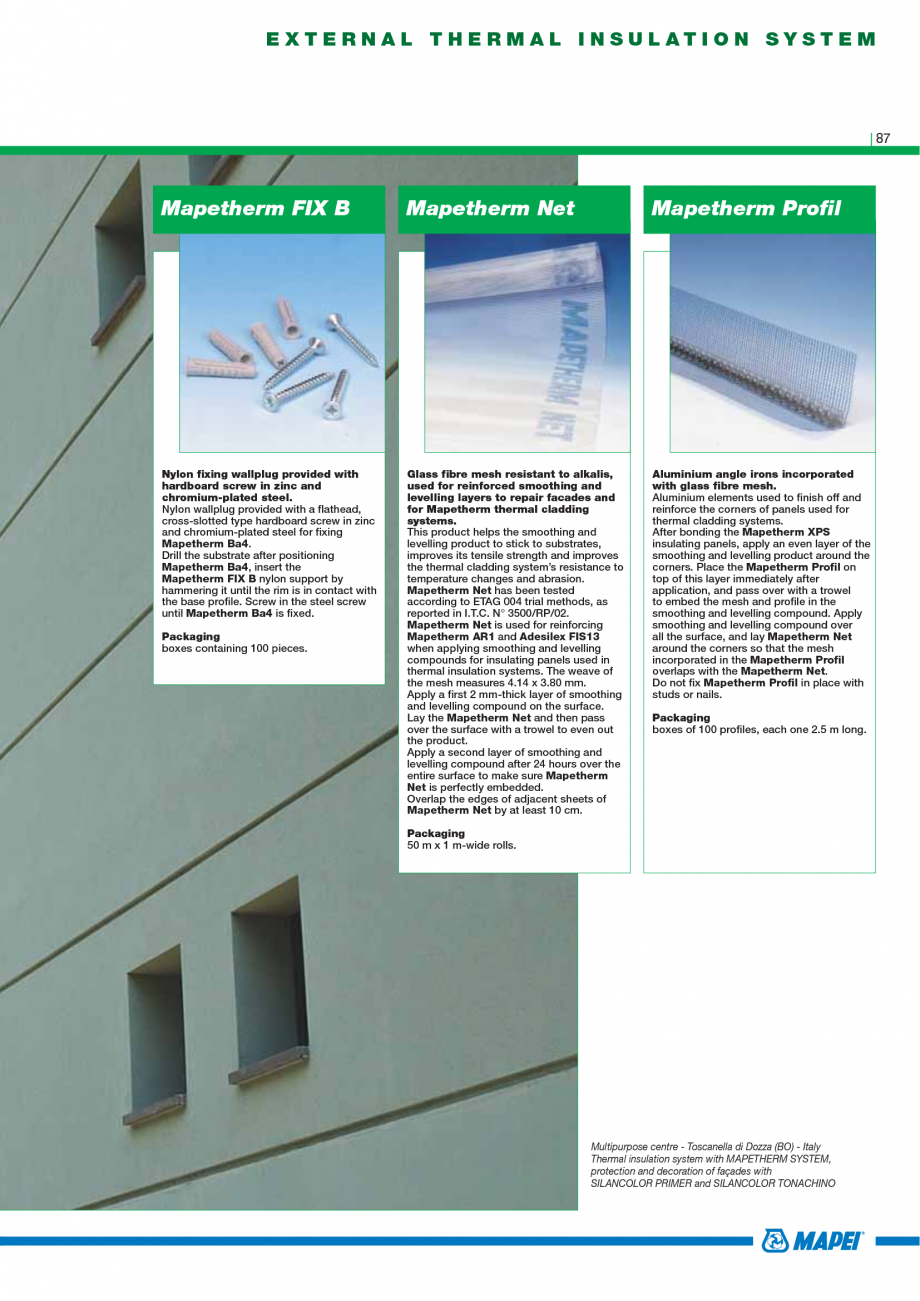 Pagina 89 - Catalog mortare, materiale speciale MAPEI Mapegrout Easy Flow GF, Mapegrout SV,...