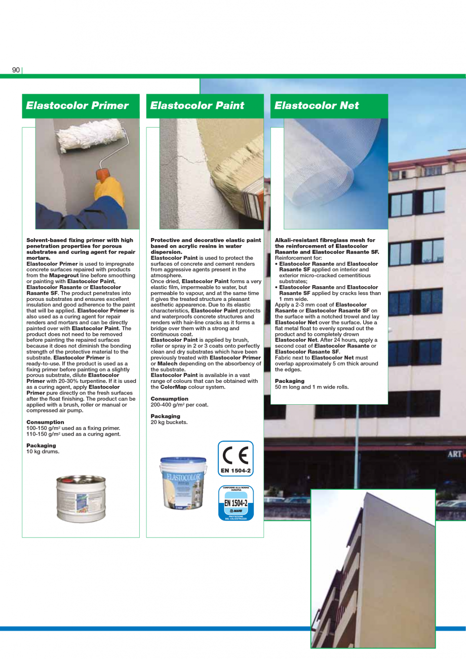 Pagina 92 - Catalog mortare, materiale speciale MAPEI Mapegrout Easy Flow GF, Mapegrout SV,...