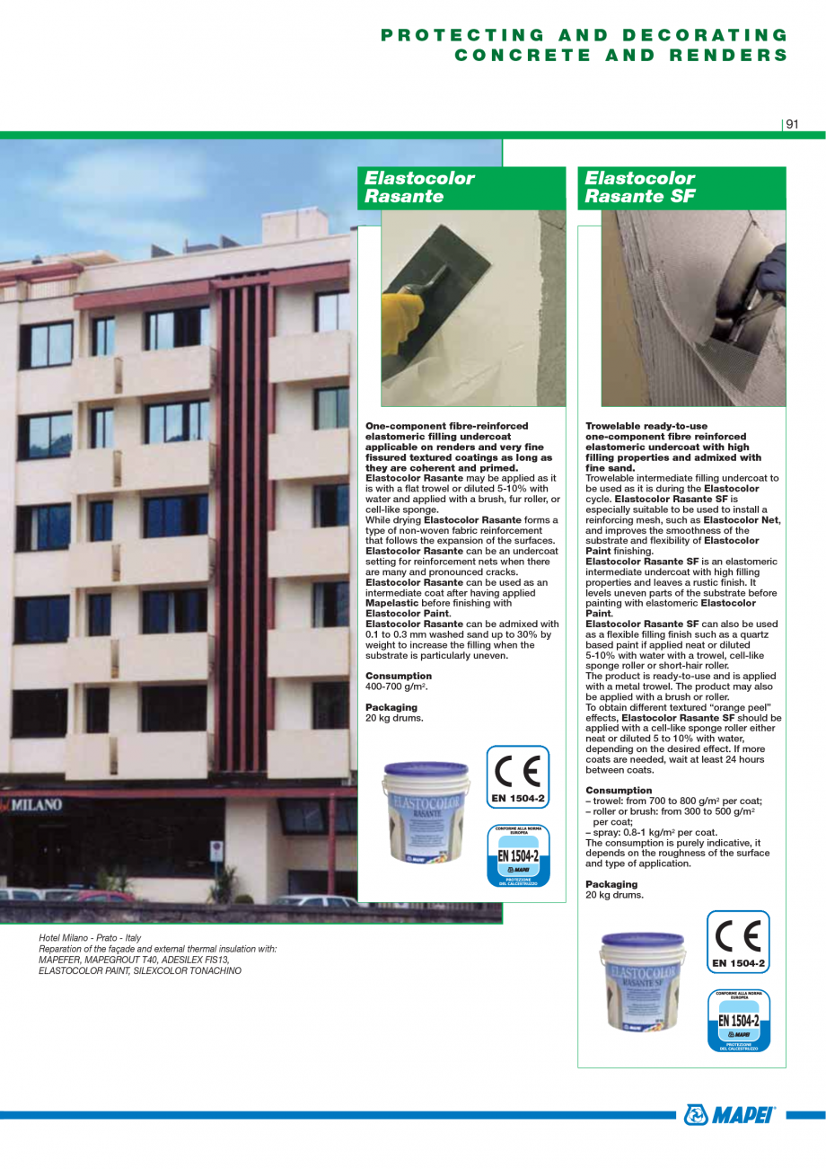 Pagina 93 - Catalog mortare, materiale speciale MAPEI Mapegrout Easy Flow GF, Mapegrout SV,...