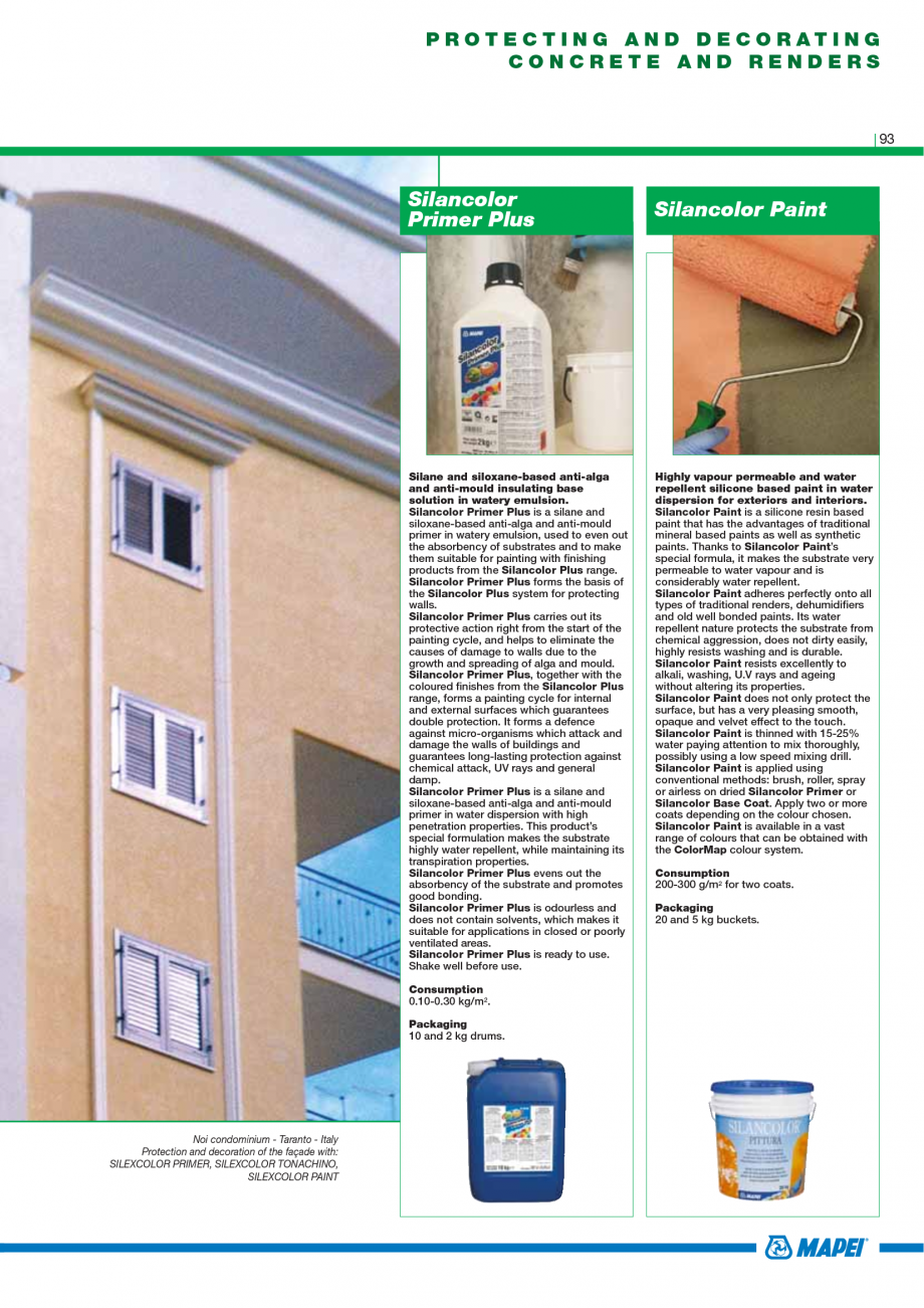 Pagina 95 - Catalog mortare, materiale speciale MAPEI Mapegrout Easy Flow GF, Mapegrout SV,...