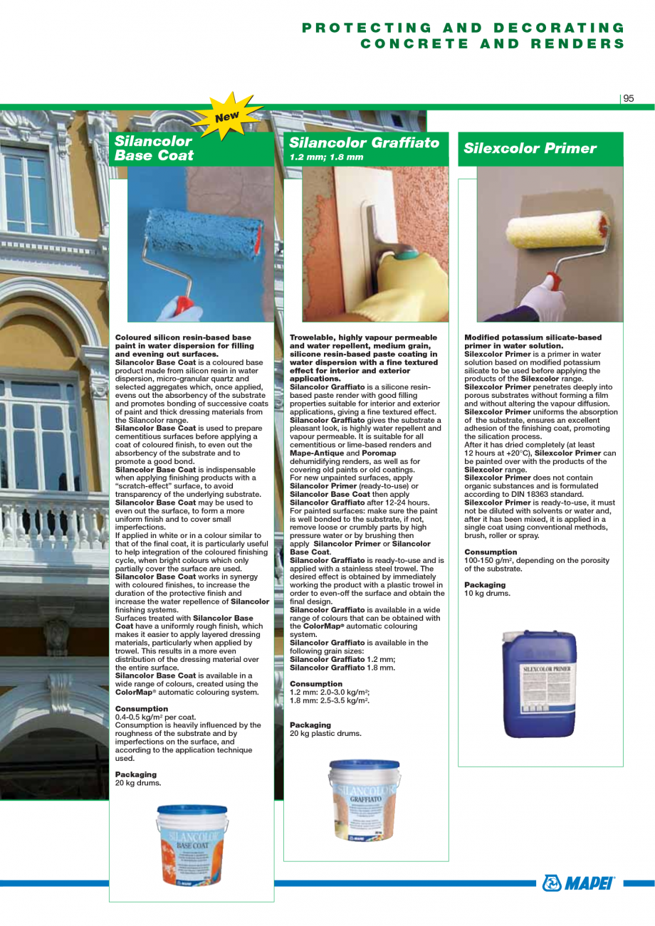 Pagina 97 - Catalog mortare, materiale speciale MAPEI Mapegrout Easy Flow GF, Mapegrout SV,...