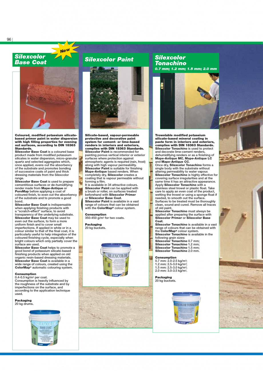 Pagina 98 - Catalog mortare, materiale speciale MAPEI Mapegrout Easy Flow GF, Mapegrout SV,...