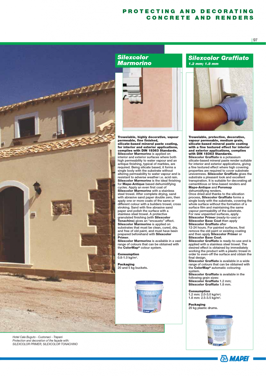 Pagina 99 - Catalog mortare, materiale speciale MAPEI Mapegrout Easy Flow GF, Mapegrout SV,...