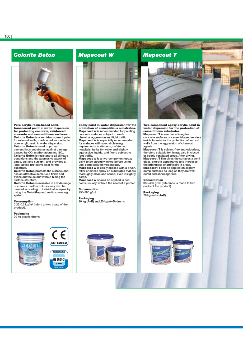 Pagina 102 - Catalog mortare, materiale speciale MAPEI Mapegrout Easy Flow GF, Mapegrout SV,...