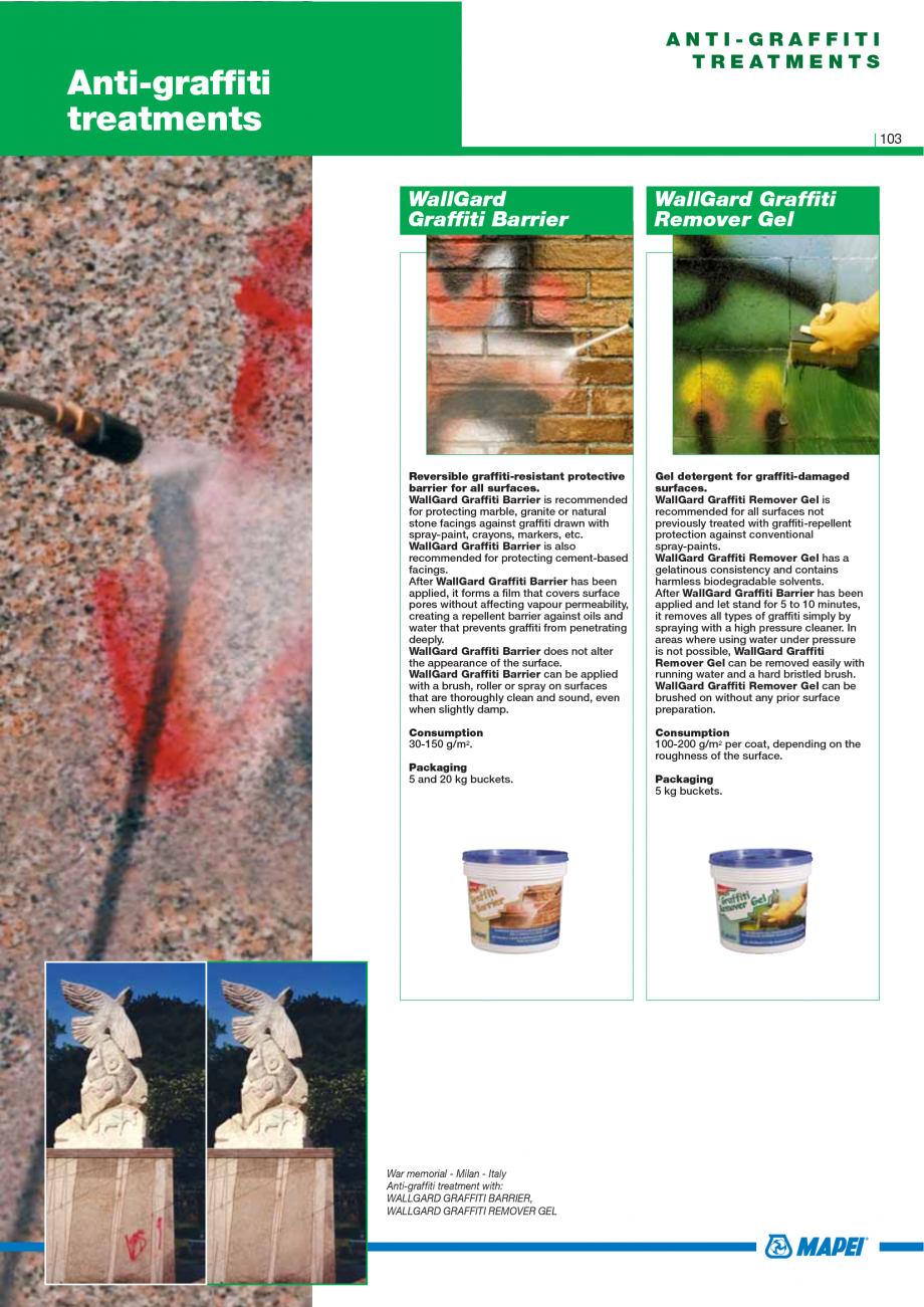 Pagina 105 - Catalog mortare, materiale speciale MAPEI Mapegrout Easy Flow GF, Mapegrout SV,...