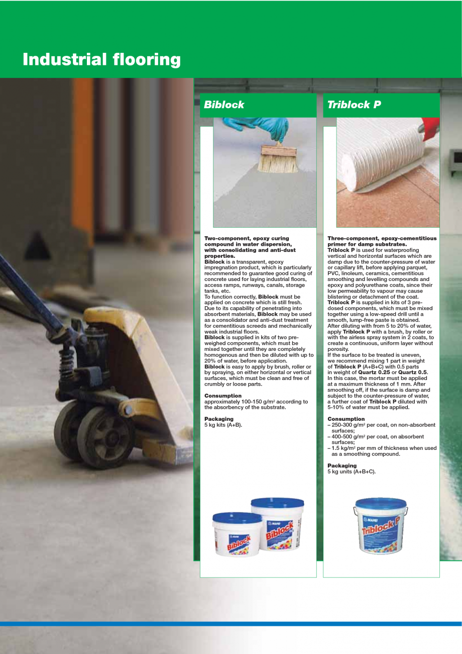 Pagina 112 - Catalog mortare, materiale speciale MAPEI Mapegrout Easy Flow GF, Mapegrout SV,...