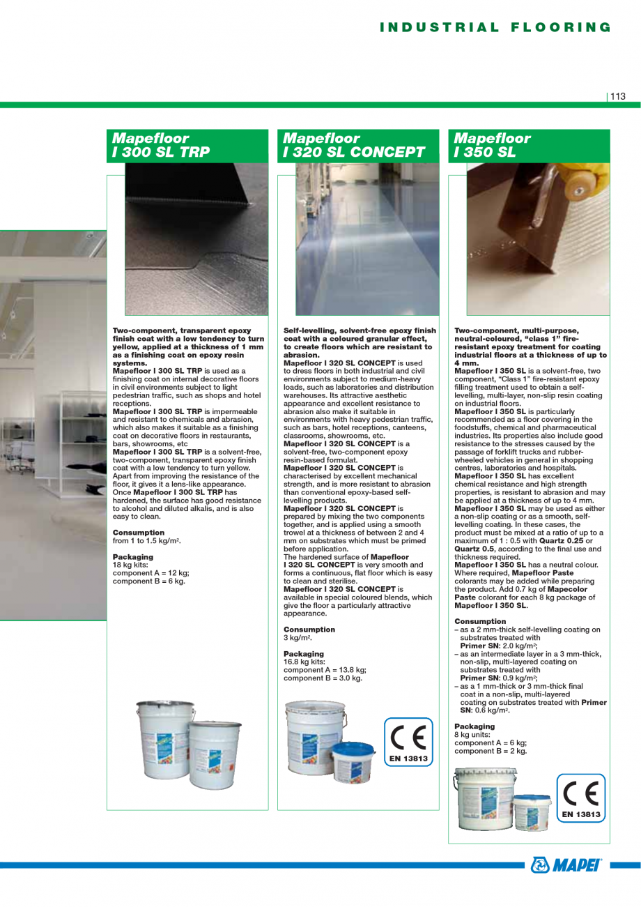 Pagina 115 - Catalog mortare, materiale speciale MAPEI Mapegrout Easy Flow GF, Mapegrout SV,...