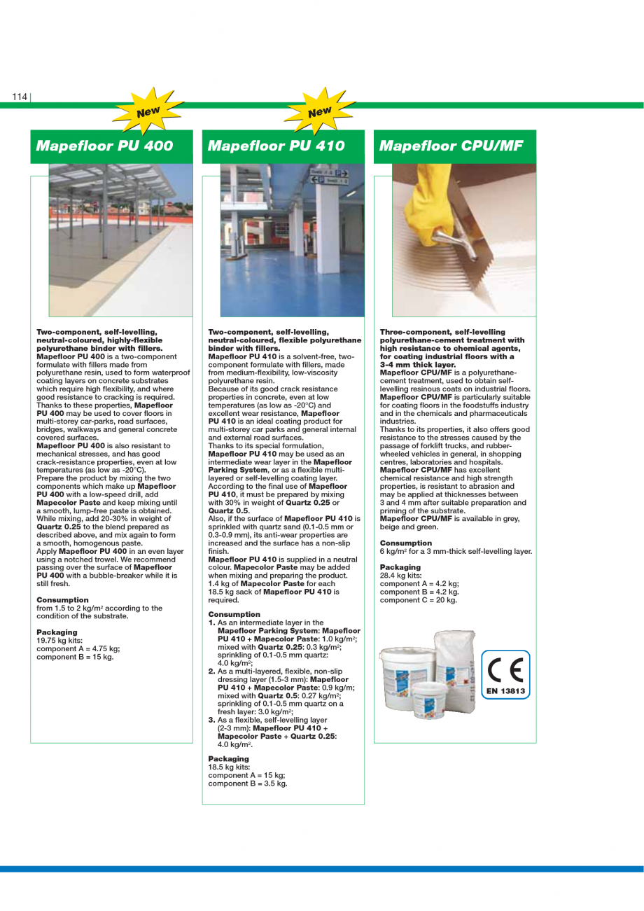 Pagina 116 - Catalog mortare, materiale speciale MAPEI Mapegrout Easy Flow GF, Mapegrout SV,...